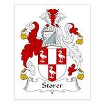 Storer Family Crest Small Poster