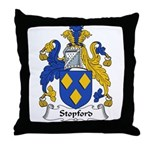 Stopford Family Crest Throw Pillow