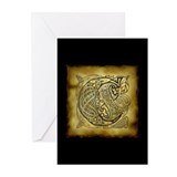 Celtic Letter C Greeting Cards (Pk of 20)