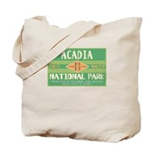 Acadia National Park (Retro) Tote Bag