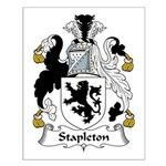 Stapleton Family Crest Small Poster