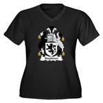 Stapleton Family Crest Women's Plus Size V-Neck Da
