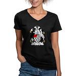 Stanton Family Crest Women's V-Neck Dark T-Shirt
