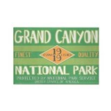 Grand Canyon National Park (Retro) Rectangle Magne