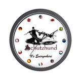 Schutzhund It's Everywhere - Wall Clock