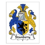 Stanbery Family Crest Small Poster