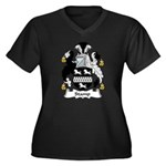 Stamp Family Crest Women's Plus Size V-Neck Dark T