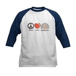 Peace Love Beethoven Kids Navy Baseball Jersey