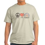 Peace Love Beethoven Grey T-Shirt