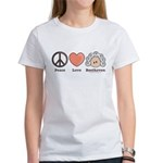 Peace Love Beethoven Women's T-Shirt