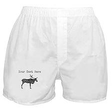 Distressed Elk Silhouette (Custom) Boxer Shorts