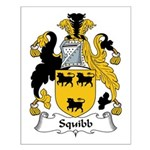 Squibb Family Crest Small Poster