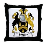 Spycer Family Crest Throw Pillow