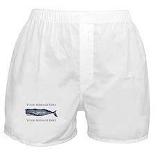 PERSONALIZED Vintage Whale Boxer Shorts