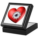 Surreal Heart Eyeball Keepsake Box