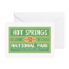 Hot Springs National Park (Retro) Greeting Card