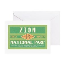Zion National Park (Retro) Greeting Card