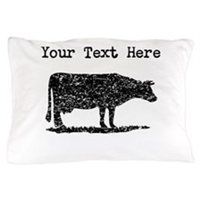 Distressed Cow Silhouette (Custom) Pillow Case