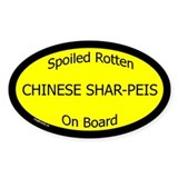 Spoiled Chinese Shar-Peis On Board Oval Decal