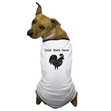 Distressed Rooster Silhouette (Custom) Dog T-Shirt