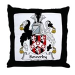 Sowerby Family Crest Throw Pillow