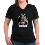 Sowerby Family Crest Women's V-Neck Dark T-Shirt