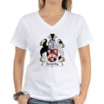 Sowerby Family Crest  Women's V-Neck T-Shirt