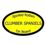 Spoiled Clumber Spaniels On Board Oval Decal