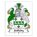 Sotheby Family Crest Small Poster