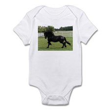 Cute Friesian horse Infant Bodysuit