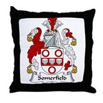 Somerfield Family Crest Throw Pillow
