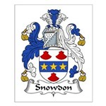 Snowdon Family Crest Small Poster