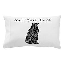 Distressed Bear Sitting Silhouette (Custom) Pillow