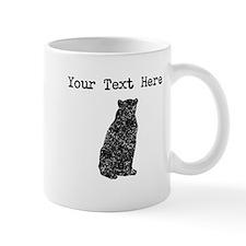 Distressed Bear Sitting Silhouette (Custom) Mugs