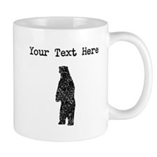Distressed Standing Bear Silhouette (Custom) Mugs