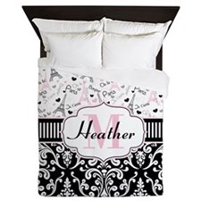 Paris Pink Queen Duvet
