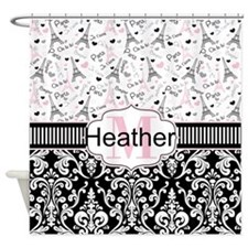Paris Pink Shower Curtain