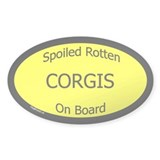 Spoiled Corgis On Board Oval Decal