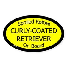 Spoiled Curly-Coated Retriever Oval Decal