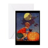 Ghostly Witch Greeting Card