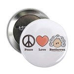 Peace Love Heart Beethoven Button (10 pack)