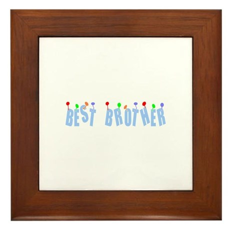Best Brother Framed Tile