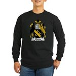 Slany Family Crest Long Sleeve Dark T-Shirt