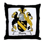 Slany Family Crest Throw Pillow