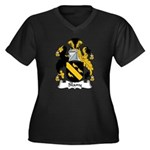 Slany Family Crest Women's Plus Size V-Neck Dark T