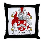 Slader Family Crest Throw Pillow