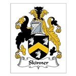 Skinner Family Crest Small Poster