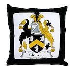 Skinner Family Crest Throw Pillow