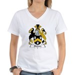Skinner Family Crest Women's V-Neck T-Shirt