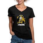 Simpson Family Crest Women's V-Neck Dark T-Shirt